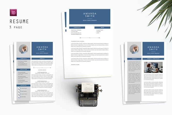 Thumbnail for Amanda Social Resume Designer