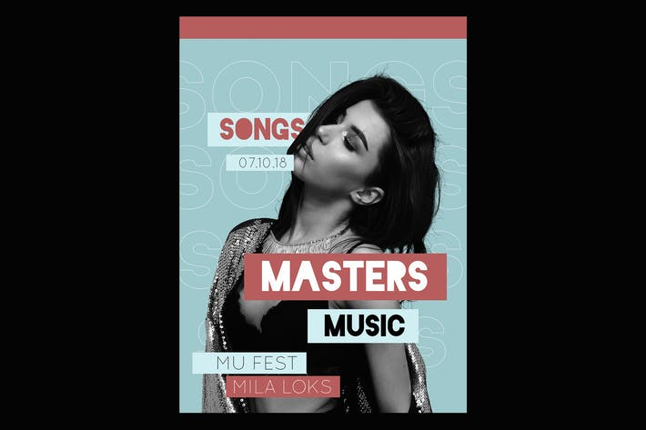 Thumbnail for Masters Music Flyer Poster