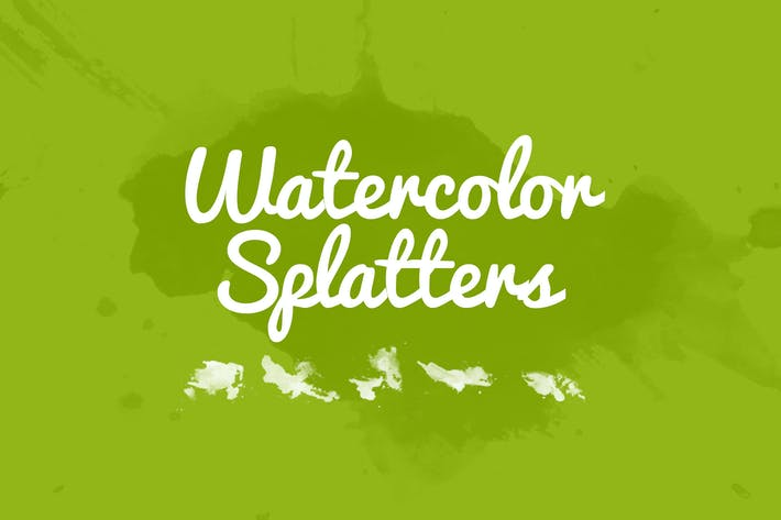Thumbnail for 32 Watercolor Splatters
