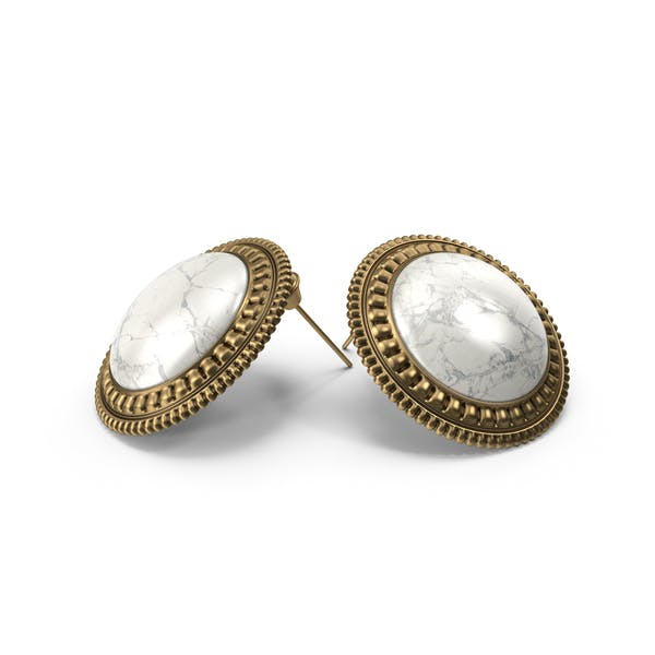 Earrings with Marble