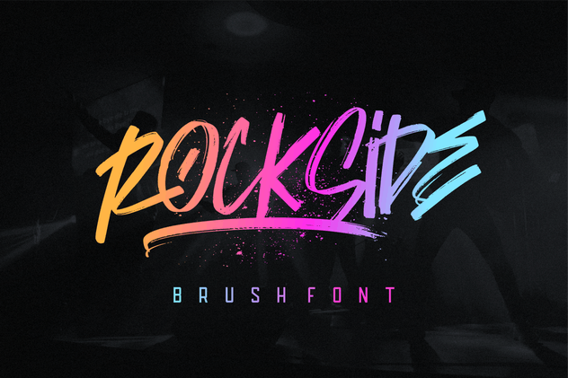 Rockside Brush Font - product preview 0