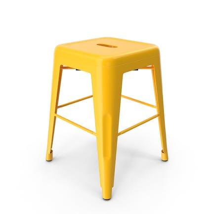 Metal Stool Yellow