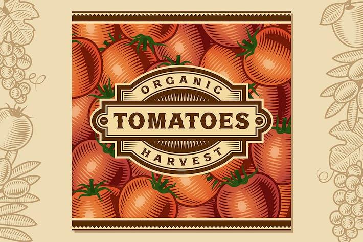 Thumbnail for Retro Tomato Harvest Label