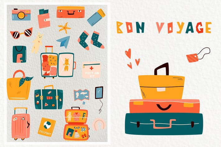 Thumbnail for Travelling Set. Vibrant Vacations