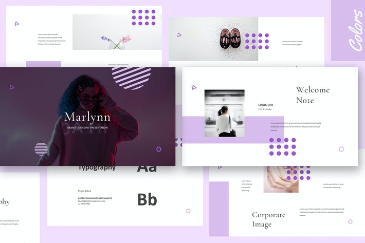 Thumbnail for Marlynn - Branding Guidelines Keynote
