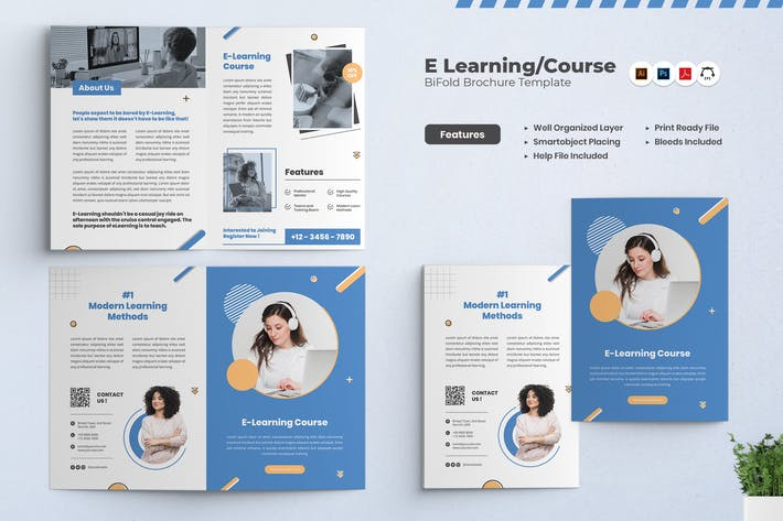 Thumbnail for E-Learning/Course Bifold Brochure