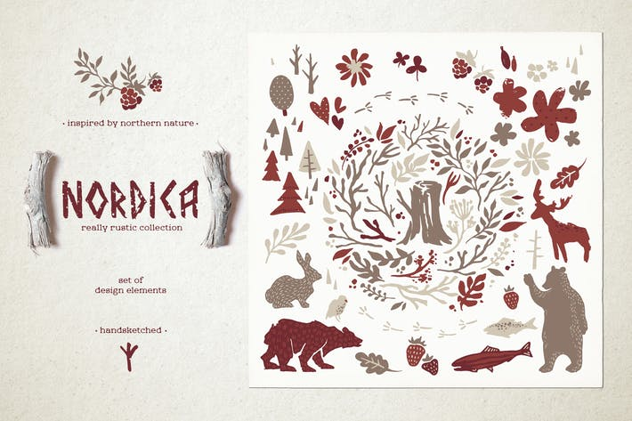 Thumbnail for Nordica // Hygge Clipart Collection