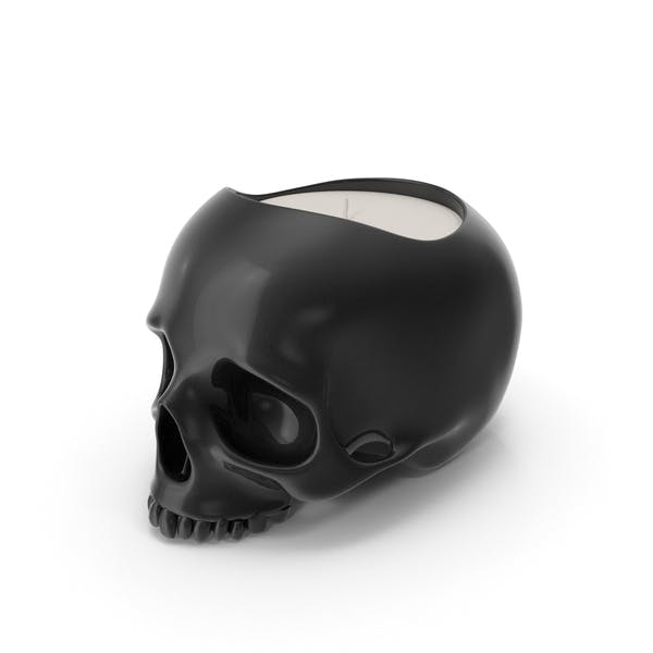 Black Skull Head Candle