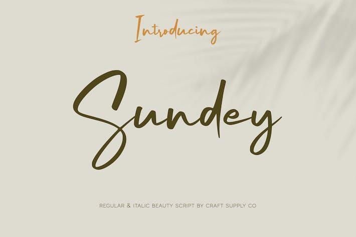 Thumbnail for Sundey - Fuente de escritura de belleza
