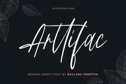 Arttifac - Fuente de escritura moderna