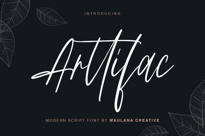Cover Image For Arttifac - Modern Script Font