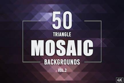 50 Dreieck-Mosaik-Hintergründe - Band 2