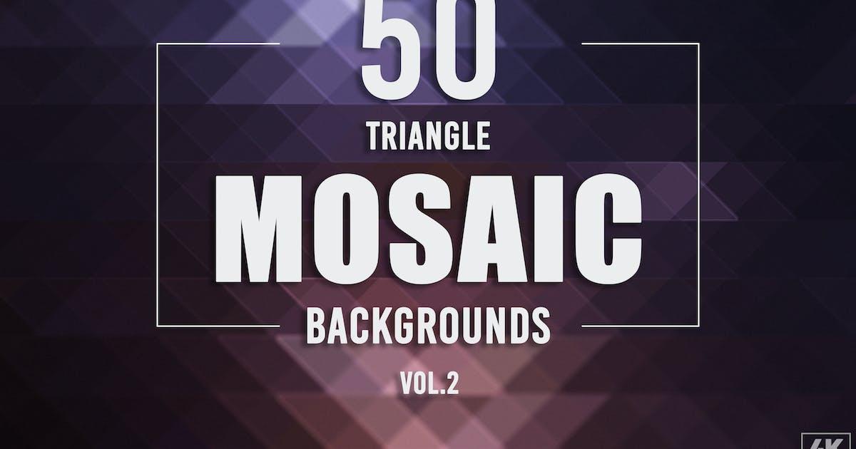 Download 50 Triangle Mosaic Backgrounds - Vol. 2 by Eldamar_Studio