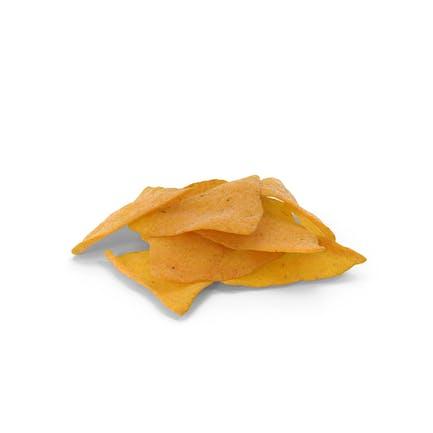 Small Pile Of Corn Tortilla Nacho Chips