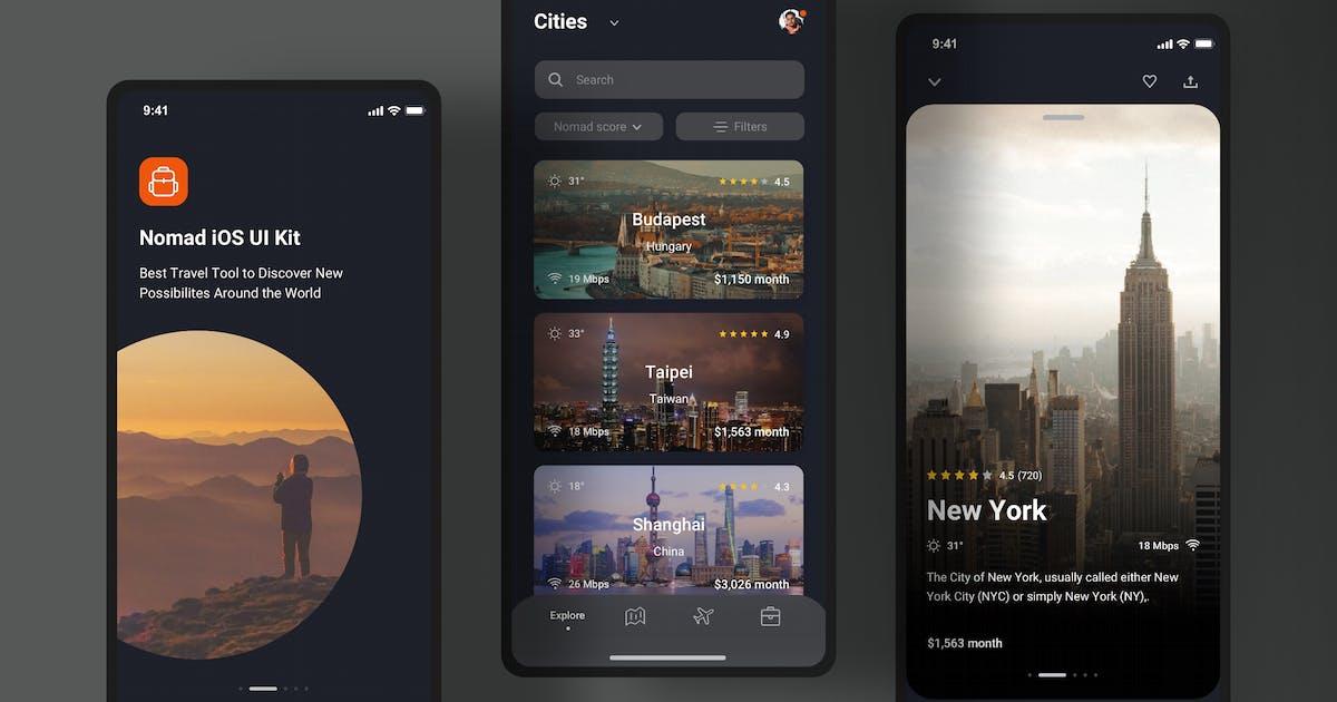 Download Explore cities app - Dark Mode (iOS) by buydesign