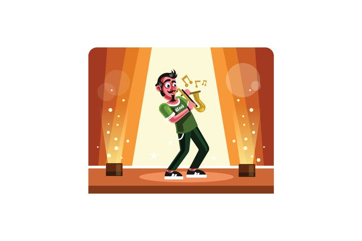 Thumbnail for Musician Playing Saxophone on Stage