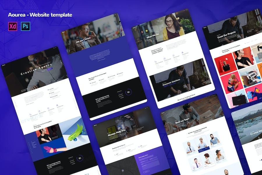 Ourea - Creative agency Website Templates