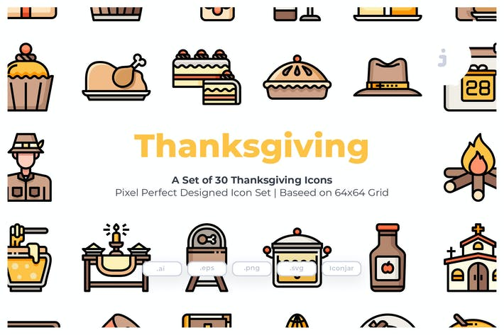 Thumbnail for 30 Thanksgiving Icons
