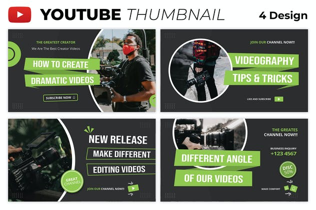 Creator Videography Youtube Thumbnail Template
