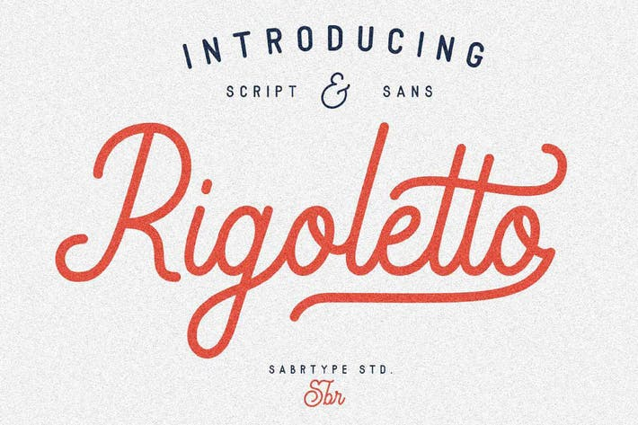 Cover Image For Rigoletto Font Duo Negro