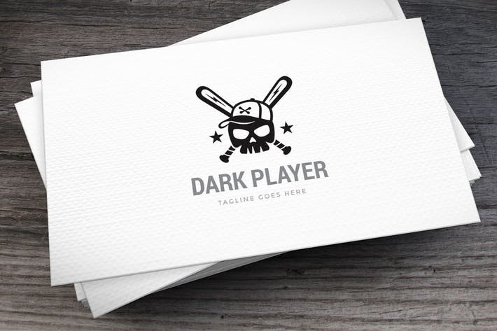 Dark Player Logo Template