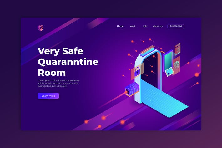 Thumbnail for Very Safe Quantine Room - Isometric Landing Page