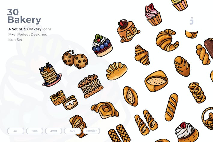 Thumbnail for 30 Bakery Icons