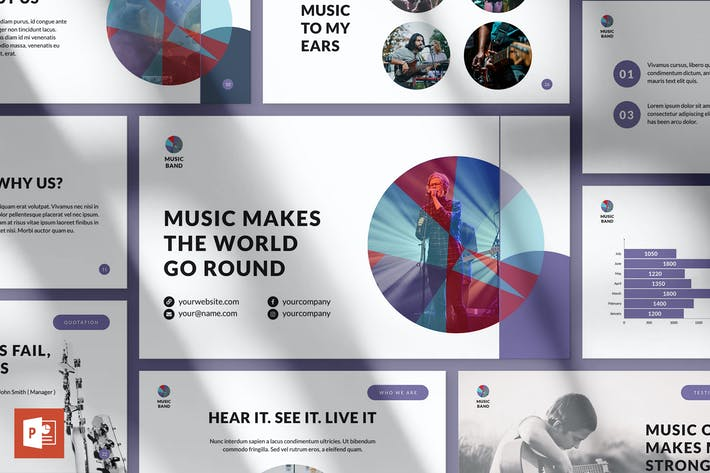 Thumbnail for Music Band PowerPoint Presentation Template