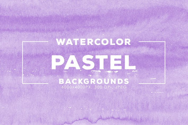 Thumbnail for 30 Pastel Watercolor Backgrounds