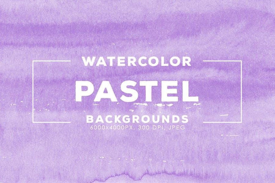 30 Pastel Watercolor Backgrounds