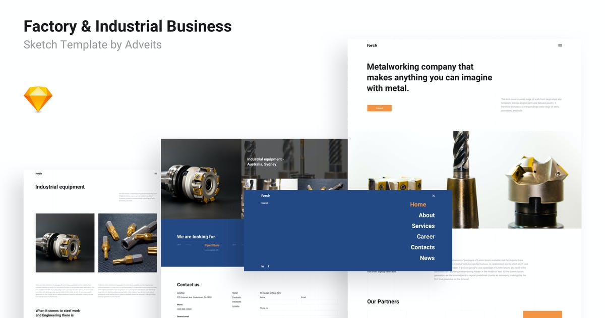 Download Forch - Factory & Industrial Business Sketch Templ by adveits