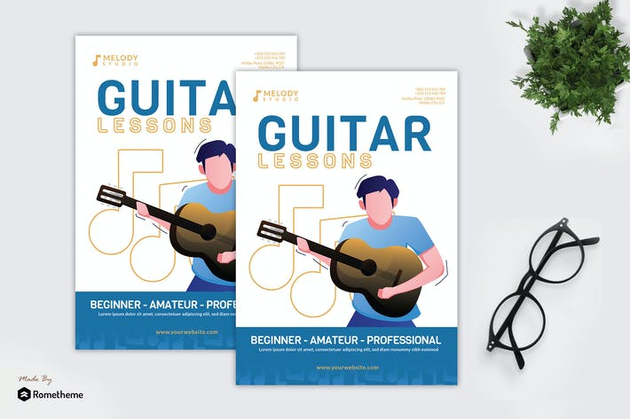 Thumbnail for Guitar Lessons - Creative Flyer GR