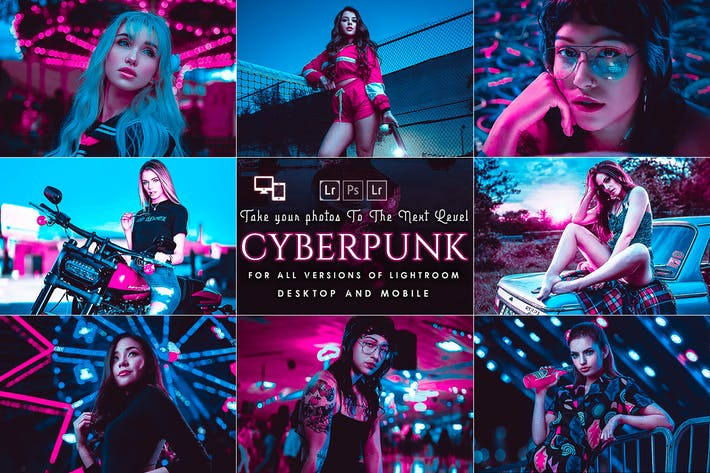 Thumbnail for Пресеты Cyberpunk Lightroom