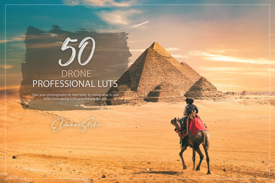 50 Drone LUTs and Presets Pack