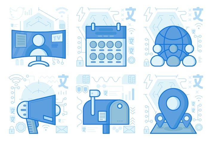 Thumbnail for UX-Illustrationen für Gruppennetzwerke