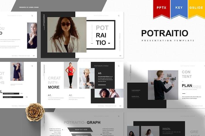 Potraito   Powerpoint, Keynote, Google Slides