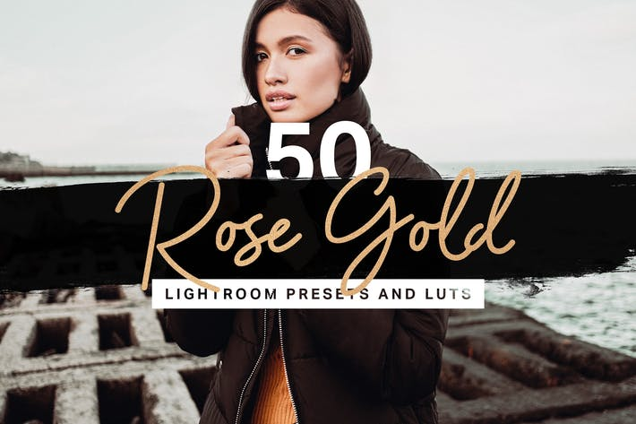 Thumbnail for 50 Rose Gold Lightroom Presets LUTs