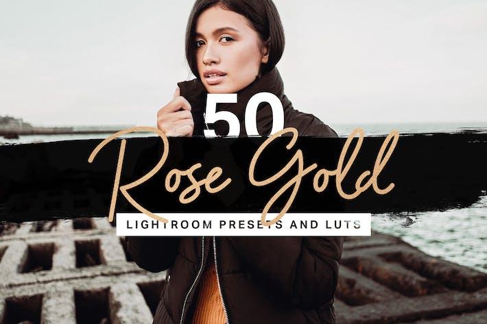 50 Пресеты Lightroom LUT из розового золота