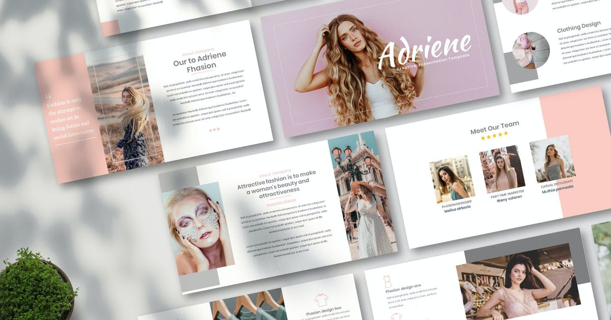 Download Adriene - Creative Keynote Template by Nyiltemp