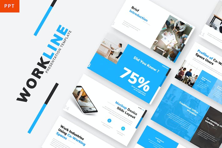 Thumbnail for Workline - Company Powerpoint Template