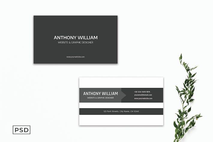 Grey Creative Business Card Template