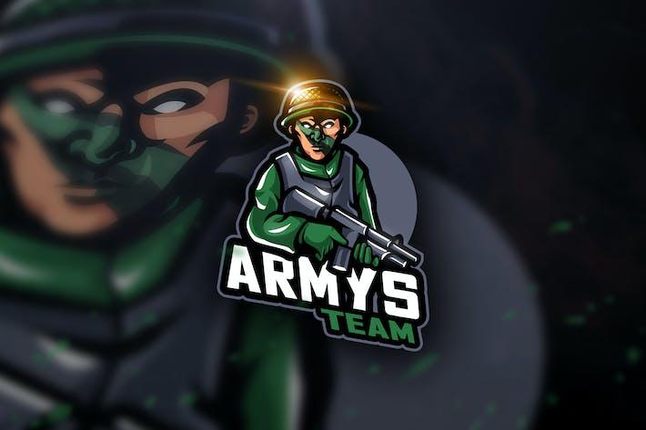 Thumbnail for Armys Team - Mascot & Esport Logo