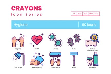 60 Hygiene Icons