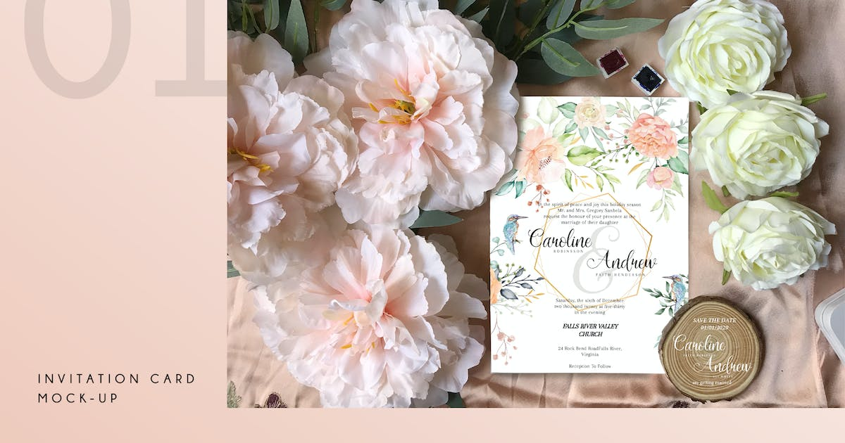 Download Invitation Card Mock-up by Squirrel92