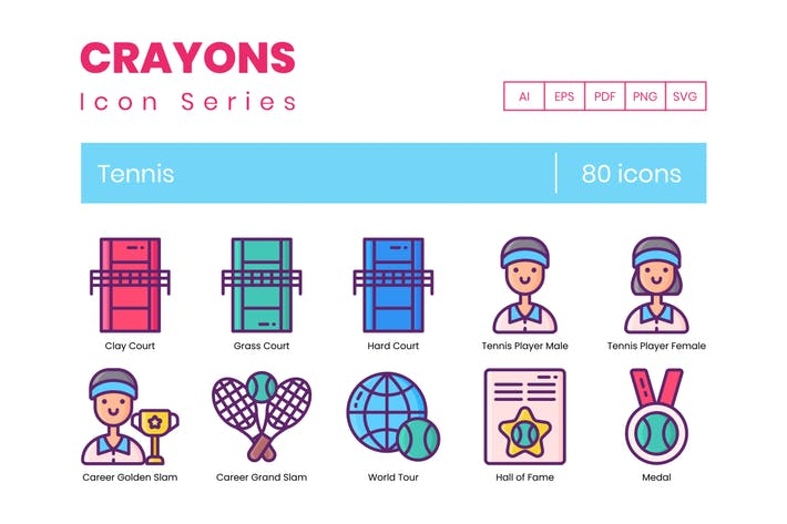 Thumbnail for 80 Tennis Icons & Sport Icons