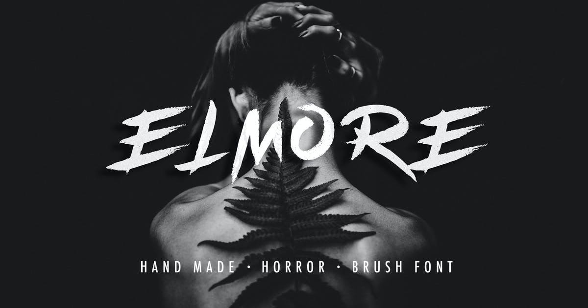 Download Elmore - Brush Font by micromove