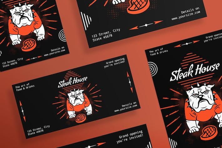 Thumbnail for Steak House Flyer und Poster Vorlage