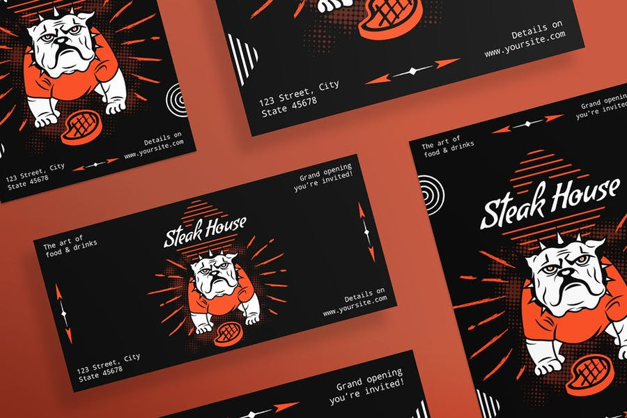 Steak House Flyer and Poster Template