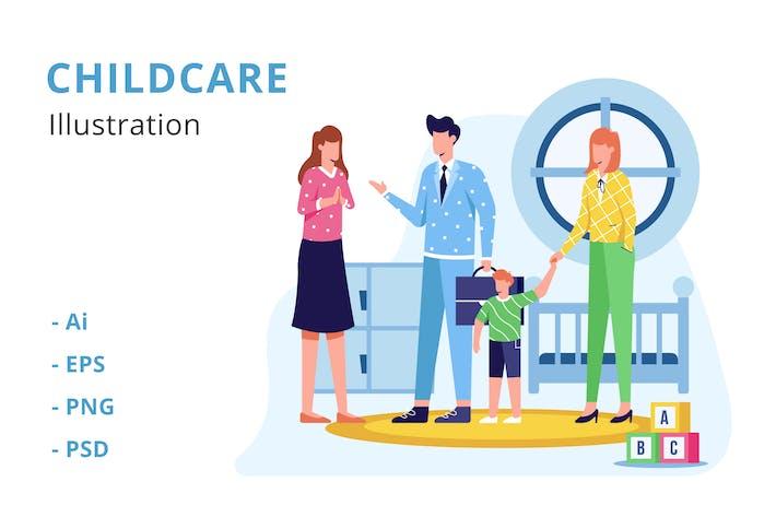 Thumbnail for Childcare Illustration