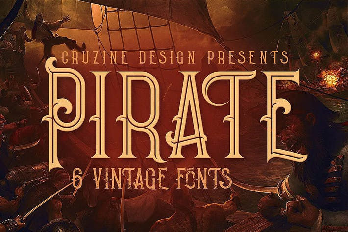 Thumbnail for Pirata - Fuente de estilo Vintage